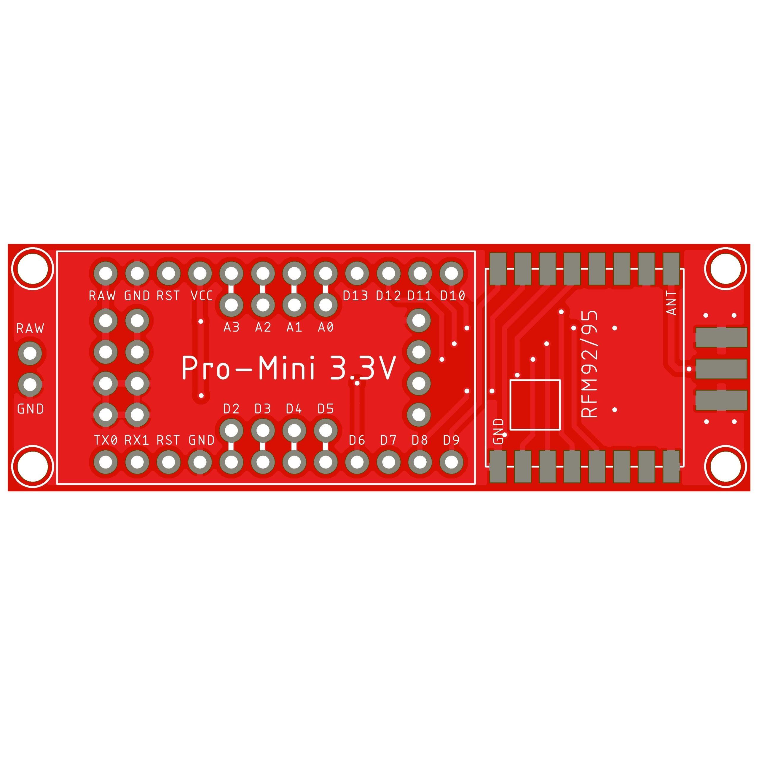 LoRa Node PCB 203 for Interface Pro Mini RFM92RFM95