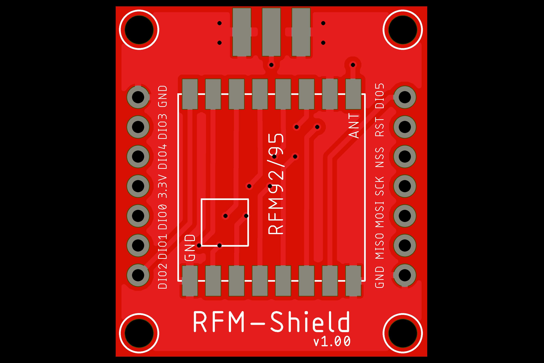 LoRa Node PCB 100 Shield Only RFM92/RFM95